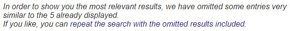 Irrelevante Seiten werden in den Supplemental Results versteckt